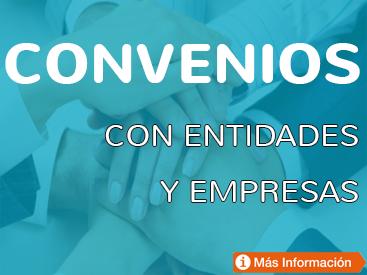 Convenios con entidades y empresas